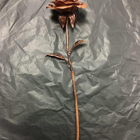 Large Copper Rose #1