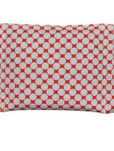 Large Cotton Wheat Bag  - Orange Spot