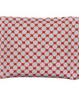 Large Cotton Wheat Bag  - Orange Spot