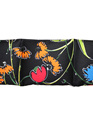 Large Cotton Wheat Bags - Botanic Black