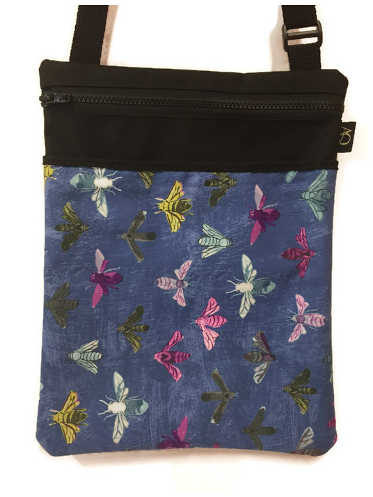 Large Dory handbag made in NZ featuring bees
