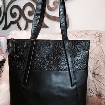 Large Embossed Tote Bag