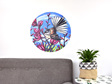 Large fantail in harakeke wall decal dot