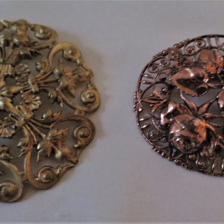 Large filigree brooches