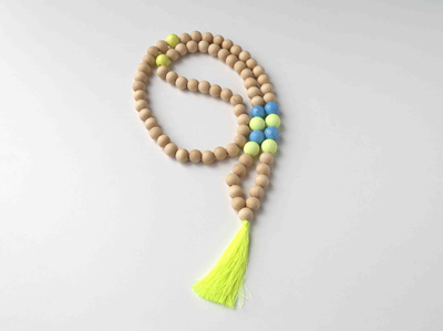 large Fimo Tassel Necklace
