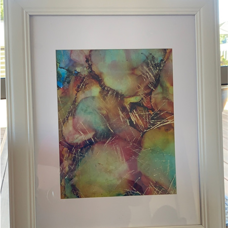 Large Framed Abstract Painting