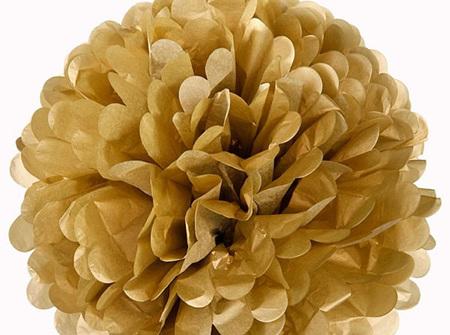 Large gold pom pom - 42cm