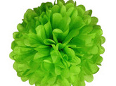 Large green pom pom - 42cm