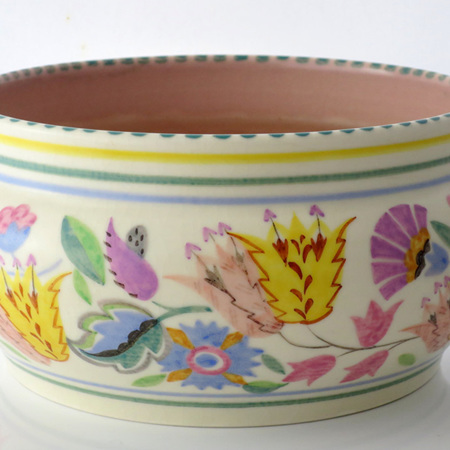 Large hand painted Poole bowl