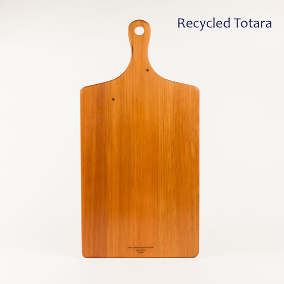 Large handle board made from recycled totara