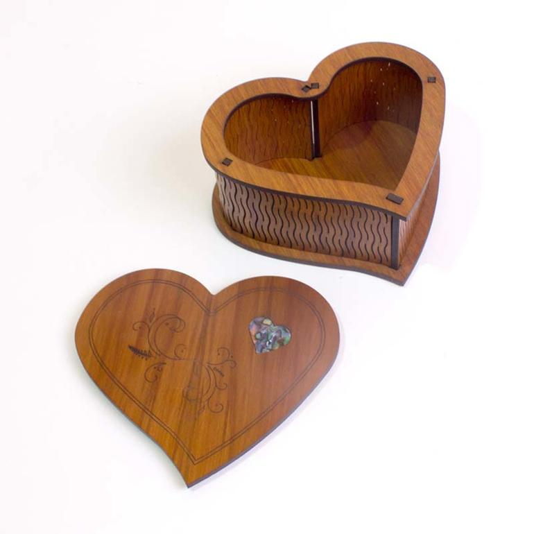 large heart box lid off