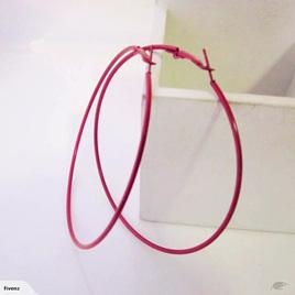 LARGE HOOP EARRINGS *RED*