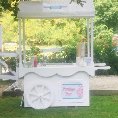 Large Ice Cream Cart