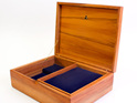 large jewellery box burgundy