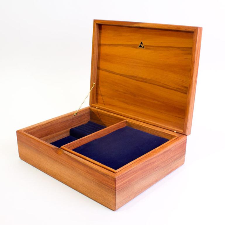 large jewellery box burgundy