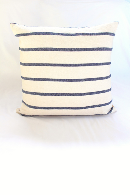 Large Navy Stripe Cushion