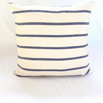 Large Navy Stripe Cushion
