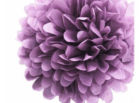 Large purple pom pom - 42cm