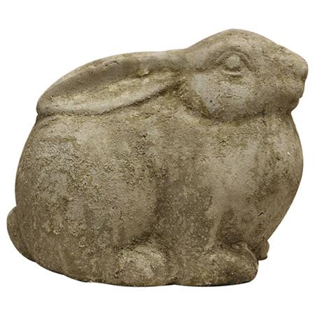 Large Rabbit in aged stone finish