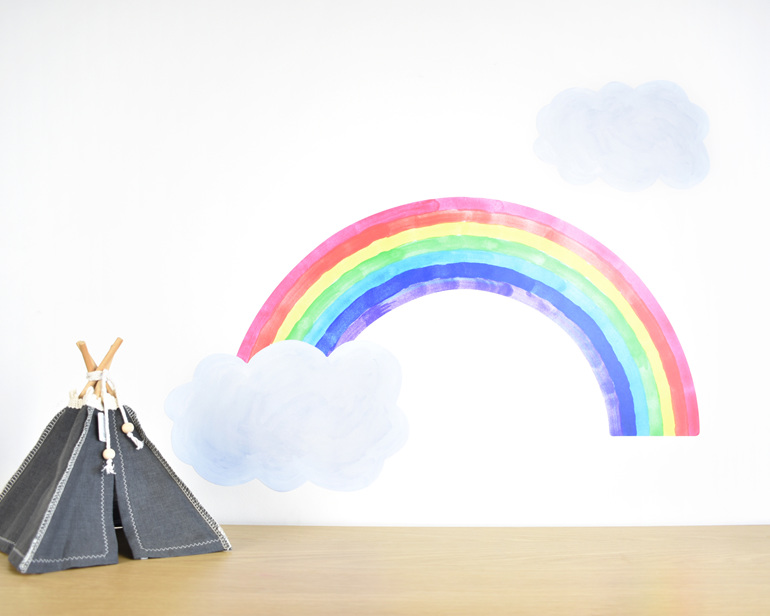 Large rainbow wall decal