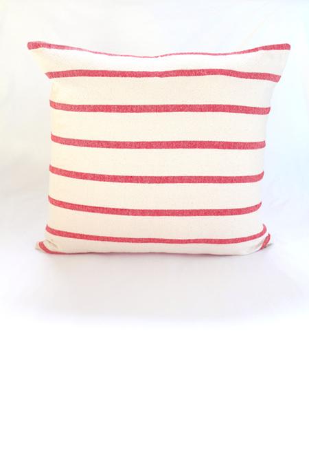 Large Red Stripe Cushion
