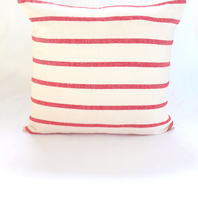 Large Red Stripe Cushion