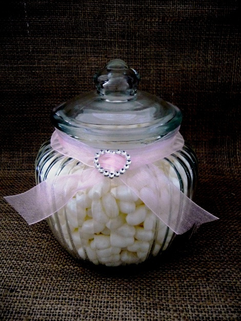 large ribbed candy jar wedding and event hire