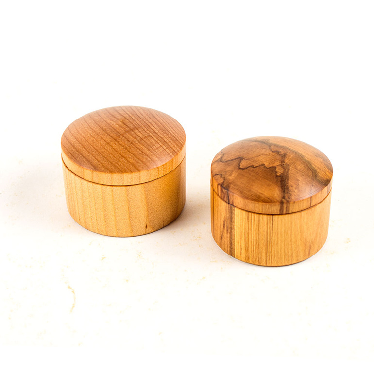 large round boxes - kauri and rimu