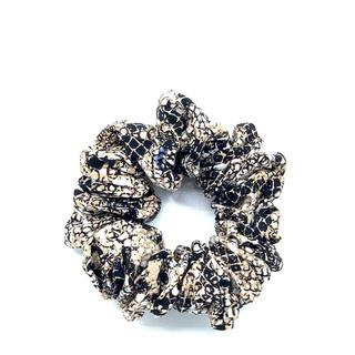 Large Scrunchie - Snakeskin Black