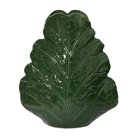 Large sculptured leaf vase