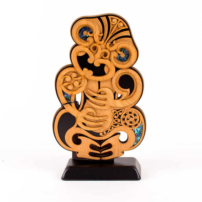 large standinga art - tiki - made in new zealand
