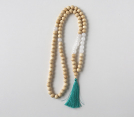 Large Stone Tassel Necklace