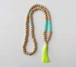 Large Stone Tassel Necklace