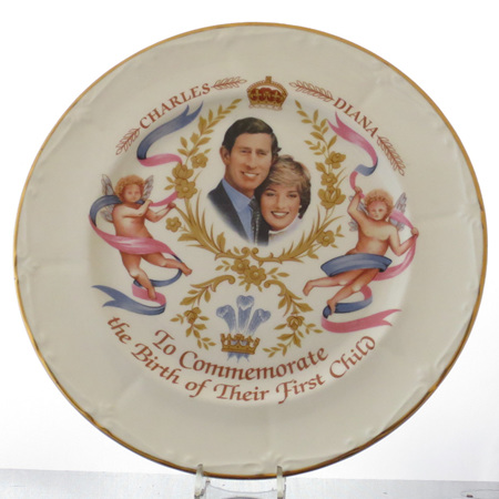 "Large tea plate ""Birth First Child"""