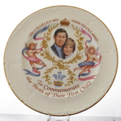 "Large tea plate ""Birth First Child"""