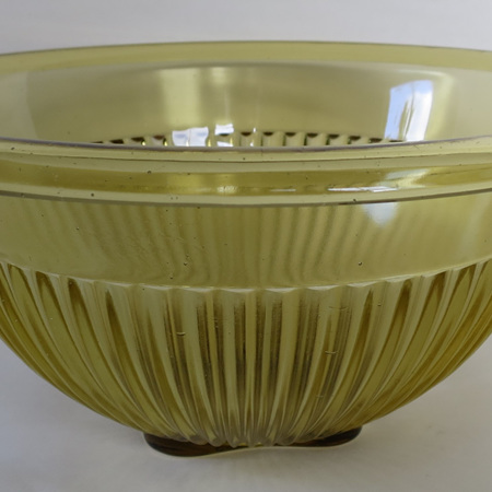 Large vintage amber bowl