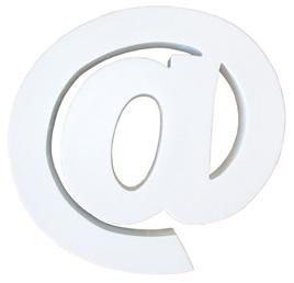Large White Letter - @