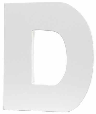 Large White Letter - D