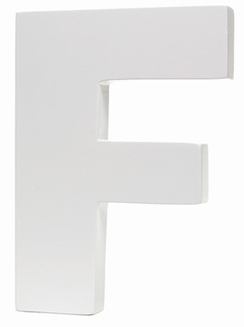 Large White Letter - F