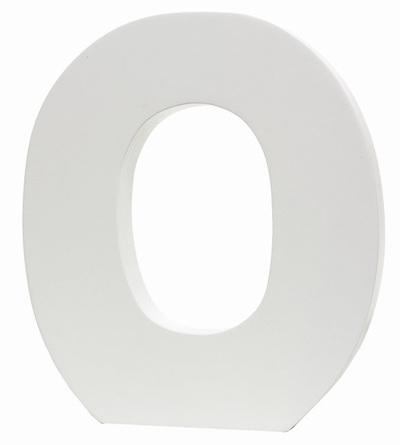 Large White Letter - O