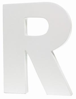 Large White Letter - R
