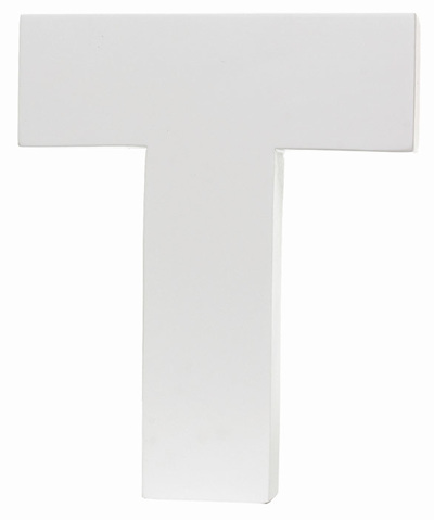 Large White Letter - T