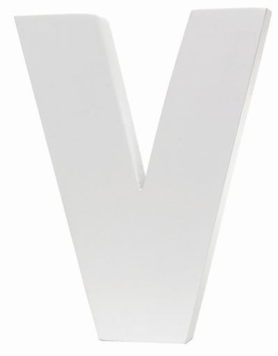 Large White Letter - V