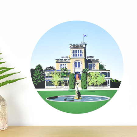 Larnach Castle wall decal dot