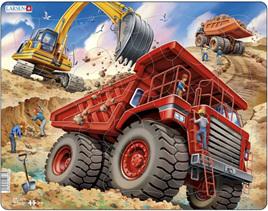 Larsen Tray Jigsaw Puzzle Dump Truck