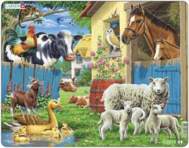 Larsen Tray Jigsaw Puzzle Farm Animals