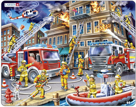 Larsen Tray Jigsaw Puzzle  Firefighters