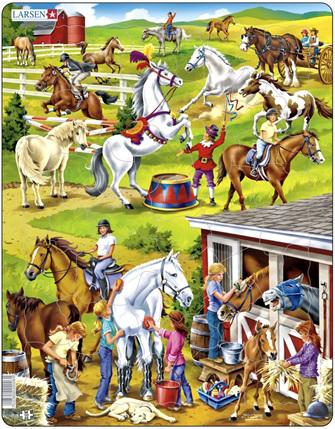 Larsen Tray Jigsaw Puzzle Horses