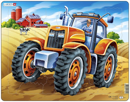 Larsen Tray Jigsaw Puzzle: Tractor