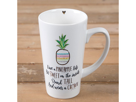 Latte Mug-Pineapple